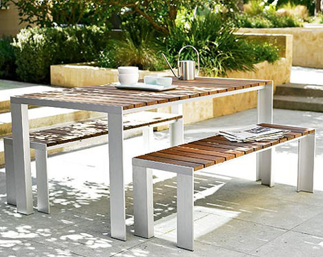 Modern outdoor furniture for Outdoor dining chairs modern