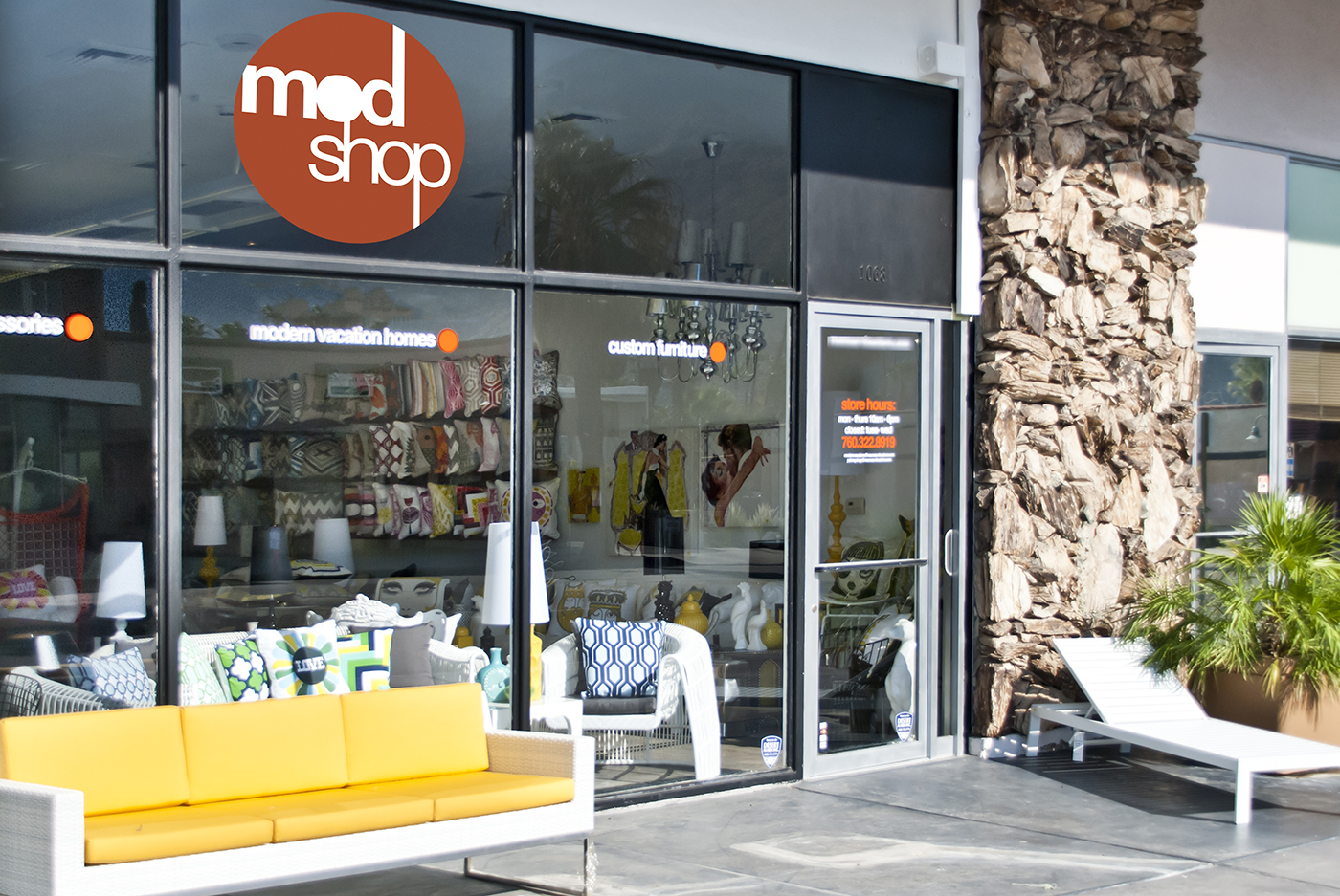 modern furniture store. Beautiful Store As You Can See Our Modern Designs Are Full Of Color And Fun Fabrics If  Visiting Palm Springs For A Mini Getaway Or Relocating To This Amazing Gem  To Modern Furniture Store R