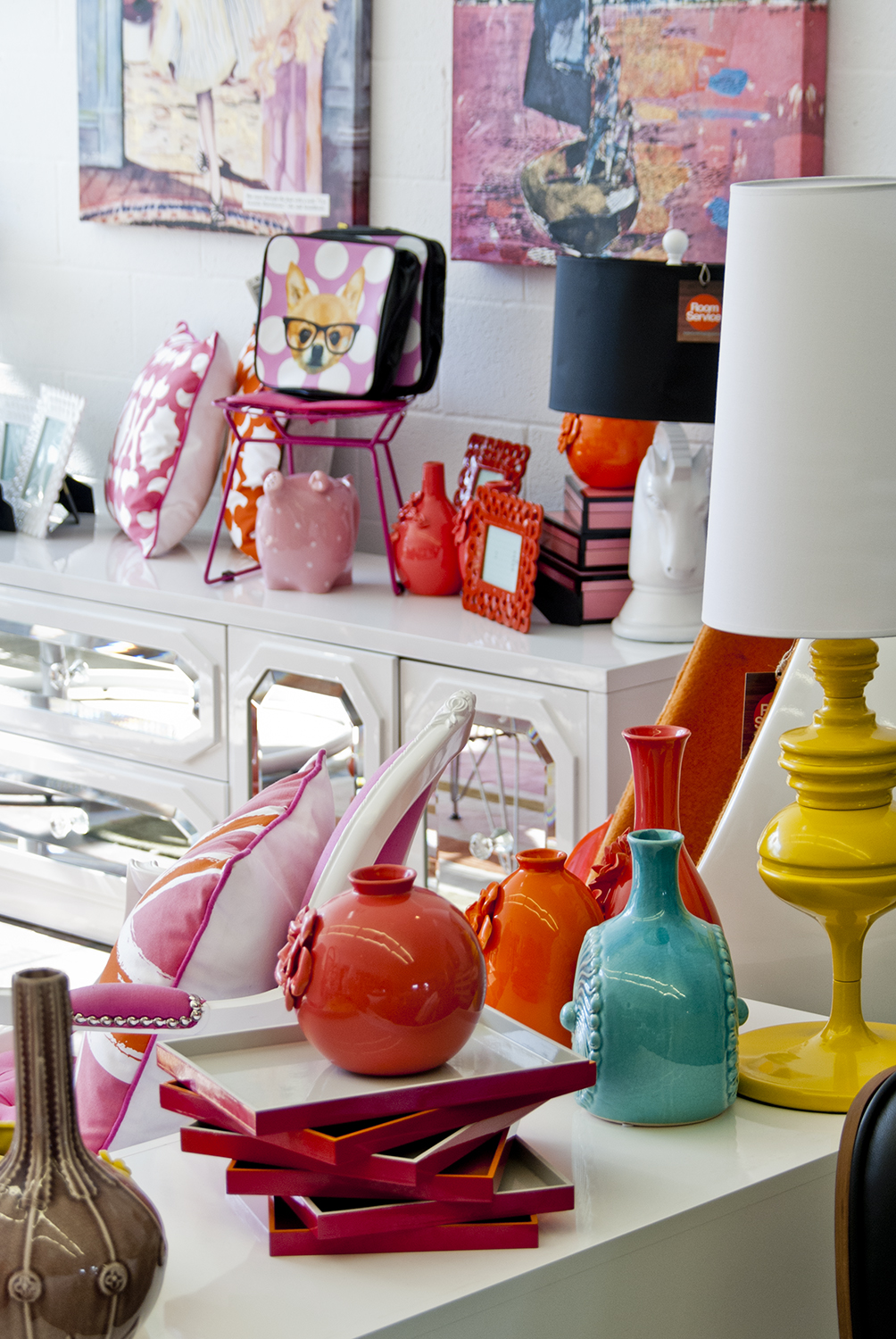 As you can see our modern designs are full of color and fun fabrics if you are visiting palm springs for a mini getaway or relocating to this amazing gem